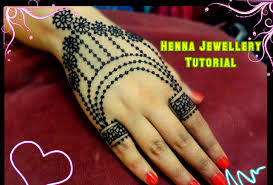 diy best and beautiful ornamental jewellery henna mehndi design