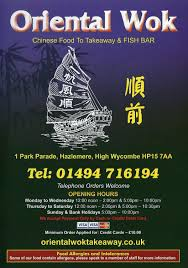 oriental wok hazlemere buckinghamshire hp15 7aa chinese food to