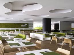 Modern Cafe Furniture by Modern Minimalist Restaurant Design With Green Color Scheme