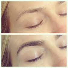 before and after brow shaping and tint eyebrow u0026 eye lashes