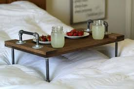 bed folding table tray and breakfast bamboo in lap buy foldable