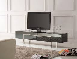 black high gloss laquer finish modern tv stand w metal legs