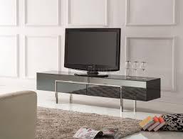 black high gloss laquer finish modern tv stand w metal legs
