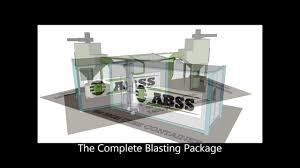 abss container blast room with elevator system u0026 ventilation dust