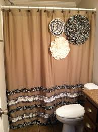 Chocolate Brown Shower Curtain Brown And Cream Shower Curtains Home Design