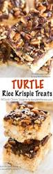 rice krispie treats for thanksgiving turtle rice krispie treats recipe caramel pecan rice krispie