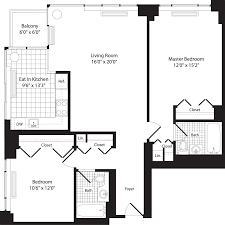 Eat In Kitchen Floor Plans 101 West End Apartments In Upper West Side 101 West End Avenue