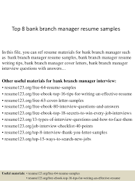 manager resume exle top 8 bank branch manager resume sles 1 638 jpg cb 1427853690