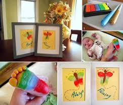 baby footprint ideas how to make rainbow butterfly baby footprint artwork diy tag