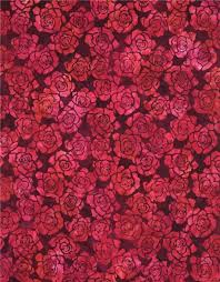 Dark Red Flower - dark purple robert kaufman dark red flower tie dye batik look