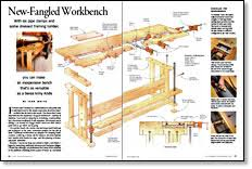 new fangled workbench revisited finewoodworking