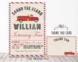 fire engine invite etsy
