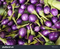 closeup view group many eggplants colorful stock photo 432839644