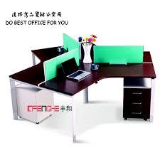 bureau poste chinois usine personnalisé 3 places bureau poste de travail buy