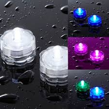 submersible led tea lights submersible battery operated led tea lights white pink blue or
