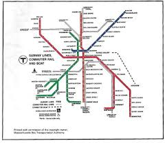 Mbta Map Boston by Vintage Mbta Maps