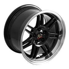 17x10 mustang wheels 17 fits ford mustang 10th anniv dish wheels black 17x10