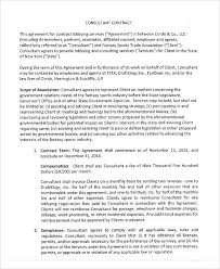 40 consulting agreement sample
