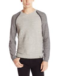 calvin klein jeans men u0027s uneven budding baseball v neck sweater at