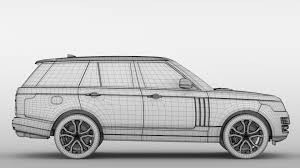 land rover drawing range rover svautobiography dynamic 2017 3d model max obj 3ds fbx