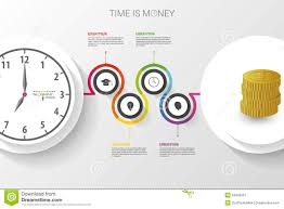 time design planner abstract work time management planning infographics template