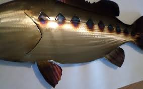 bass fishing home decor handmade torch colored metal bass fish fishing home decor lodge