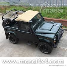 vintage range rover defender 2000 land rover defender 90 td5 soft top 2 door epsom green sold