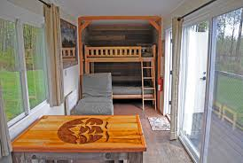 shipping container home interiors tolt macdonald park shipping container cing cabin by snoqualmie