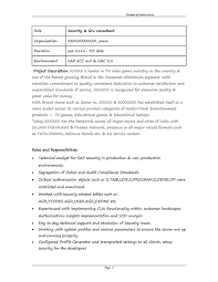 Sap Fico Resume Sample by Excellent Sap Fico Implementation Resume 64 On Resume For Customer