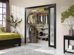 contemporary decor with big black glass architrave for closet