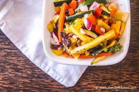 Mediterranean Vegan Kitchen - chopped mediterranean zucchini salad slender kitchen
