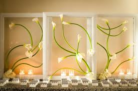 wedding backdrop modern wed erika in miami calla lilies silver sequin and