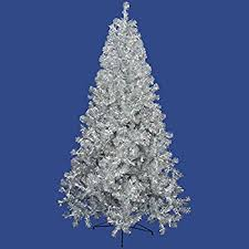 vickerman pre lit silver artificial tinsel pencil