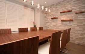 ExtraordinaryFauxBrickWalldecoratingideasforDiningRoom - Dining room accent wall