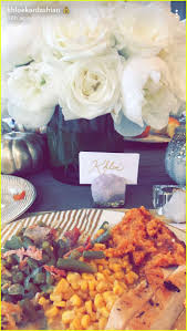 khloe made an thanksgiving meal for