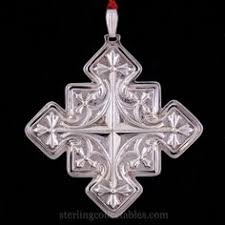1972 reed barton sterling silver cross ornament