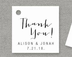 Thank You Tags Wedding Favors Templates by Wedding Favor Tag Printable Template Editable Thank You Gift