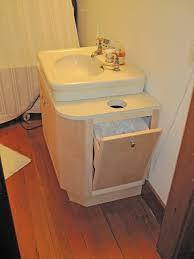 Bathroom Vanity Units Online rick made this vanity which wraps around the pedestal in the