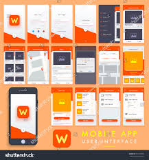 search mobile apps material design ui stock vector 567279568