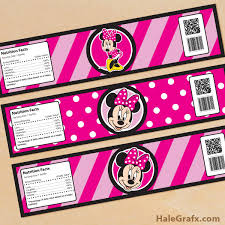 6 best images of minnie mouse printable labels free free