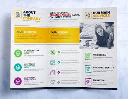 tri fold brochure microsoft word templates for charts