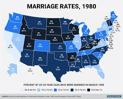World Map 1980 American Marriage Changed In 35 Years Business Insider