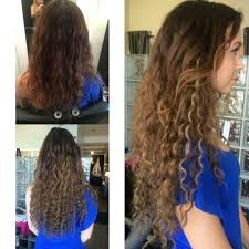 curly hair extensions before and after chicago hair extensions salon in skokie