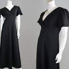 vintage dress 70 s slinky shop black disco dress on wanelo