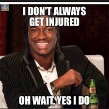 Injury Meme - rg3 injured again social media reacts
