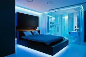 blaues schlafzimmer frische ideen für schlafzimmer beleuchtung lassen den raum glänzen