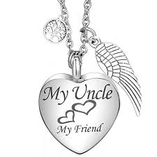 memorial necklace for ashes tree of charms cremation jewelry heart sted urn pendant