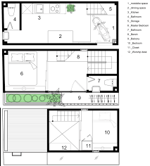 family home floor plans a tiny family home in that s set on a 2 5 meter wide plot