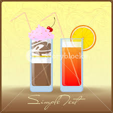 cocktail cartoon vector illustration of cartoon cocktail and milkshake eps10
