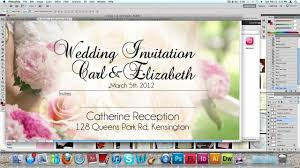 Invitation Card Marriage How To Make A Wedding Invitation Card Usng Photoshop Youtube
